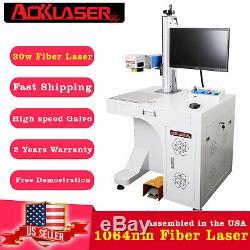 AOK LASER Desktop 30w Fiber Laser Marking Machine engraver Marker Engraving