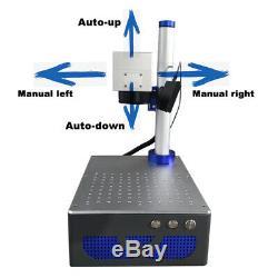 Auto focus 30W Raycus Fiber Laser Marking Machine Metal Engrave electric up down