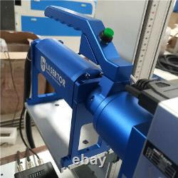 Auto focus fiber laser marking machine electric up down Hand held engraver metal