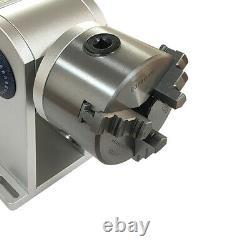 CNC Chuck Laser Rotation Axis Shaft Fiber Laser Marking 80MM Rotary Fixture US
