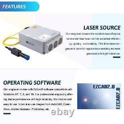 Cabinet Fiber Laser Marking Machine 7.9 ×7.9 30W Cutter Engraver Metal Marker