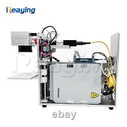 DIY fiber laser marking machine portable mini desktop for metal stainless logo
