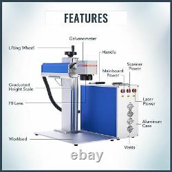 Desktop 50W Fiber Laser Engraver 300x300mm Laser Marking Machine with Max Source