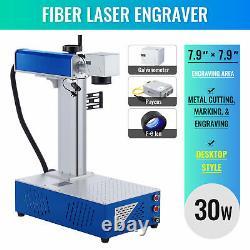 Desktop Fiber Laser Marking Machine 7.9 x 7.9 30W Metal Engraver Marker
