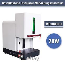Enclosed 20W 150x150mm Laser Marking Machine Fiber Laser Engraver US stock