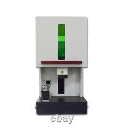 Enclosed Fiber Laser Marking Machine Laser Engraver Marker 30W Raycus D69 Rotary