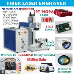 Fiber Laser Engraver Marker MOPA JPT 60W Metal Color Engraving Cutting Etching