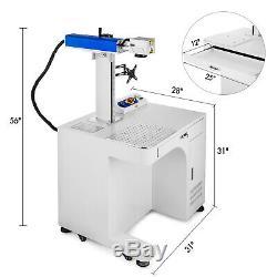 Fiber Laser Marking Machine 20W Cabinet Type Laser Focus Engraver Photoshop