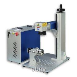 Fiber Laser Marking Machine Laser Engraver 50W 175175mm with 100mm Rotary Axis