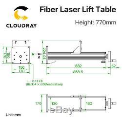 Fiber Laser Path Lift Up and Down Height 500mm 770mm for Fiber Laser Marking