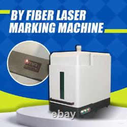 Full Enclosed Cover Fiber Laser Marking Engraving Machine JPT 30W Ring Jewelry