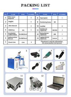 Handheld Fiber Laser Engraver Laser Marking Machine 50W JPT 175175mm Lens