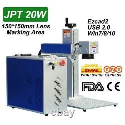 JPT 20W Fiber Laser Marking Machine 150x150mm Engraving Machine Metal Engraver