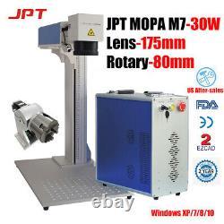 JPT 30W MOPA M7 Fiber Laser Marking Machine Engraving Aluminum Black Steel Color
