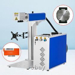 JPT 30W Split Fiber Laser Marking Engraver Machine with 80mm Rotary Axis for Gun