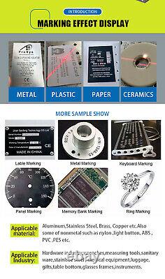 JPT Laser 50W Fiber Laser Marking Machine EZCAD3 D100 Rotary 300300mm lens