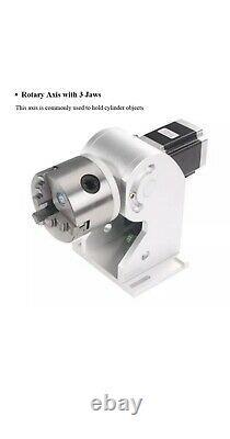 MAX 50W Fiber Laser Marking Machine + Rotation Axis, Original BJJCZ & 2 Lenses
