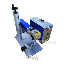 MCWlaser Raycus 20W 30W 50W Fiber Laser Marking Engraving Machine& Rotary Chuck