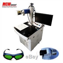 MCWlaser Raycus/ MAX 20W Fiber Laser Marking Engraving Machine & Rotary