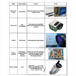 MCWlaser Raycus/ MAX 30W Fiber Laser Marking Engraving Machine & Rotary