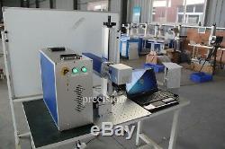 Manufacture Price 30 watt fiber laser marking machine for nameplate marking