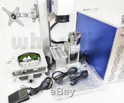 New 30W raycus fiber Laser marking machine metal engraver engraving cnc rotary
