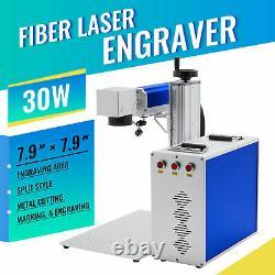OMTech 30W 7.9×7.9 inch Fiber Laser Marking Machine Metal Steel Marker Raycus