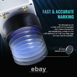 OMTech 30W Fiber Laser Engraver Desktop Laser Marking Machine 200x200mm Workbed