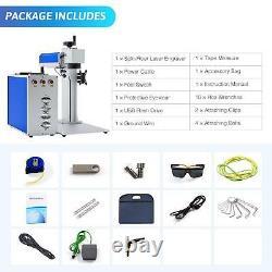 OMTech Fiber Laser Marking Machine 30W 7.9 × 7.9 Metal Marker Cutter Engraver