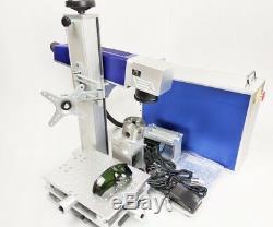 Portable fiber Laser marking machine metal engraver engraving cnc 30W raycus usa