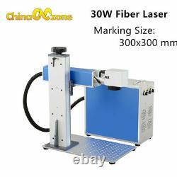 Protable 30W 300300/110110 Fiber Laser Marking Engrave Machine For Metal Steel
