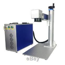Raycus 20W Fiber Laser Marking Machine Engrave Metal Plastic Acrylic Alumina FDA