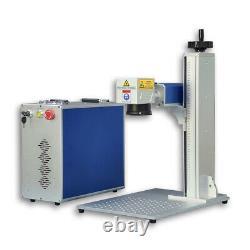 Raycus 30W Fiber Laser Marking Machine Laser Engraver Laser Marker 80mm Rotary