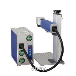 Raycus 30W Metal Fiber Laser Metal Marking Machine Two Lens With Rotary Axis US