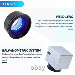 Raycus 50W Fiber Laser Marking Metal Engraving Machine Rotary Axis FDA EzCad2