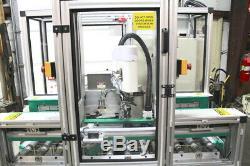 Robotic Fiber Laser Marking System Sunx LP-F10 & Janome JS350 Scara Robot
