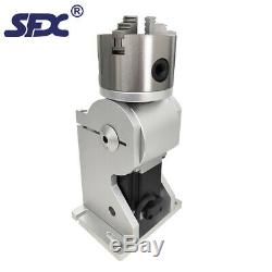 SFX 80mm Three-Jaw Rotary Axis Optional Parts for Fiber Laser Marking Machine
