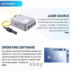 Split Fiber Laser Marking Machine 11.8x11.8 50W Cutter Engraver Metal Marker