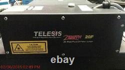 Telesis Zenith 20F Fiber Laser Marking Engraving System 20 Watt 1060 nm IPG YAG