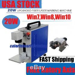 USA! 20W Fiber Laser Marker Engraving Machine for Mental / Non-mental Material