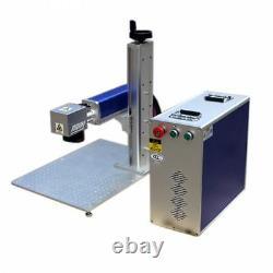 USA 50W Raycus Split Fiber Laser Marker Machine Marking Engraver Ratory Axis FDA