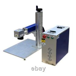 USA 50W Split Fiber Laser Marking Machine Raycus Laser & Rotary Axis for Jewely