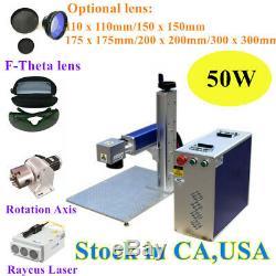 USA Origin 50W Split Fiber Laser Marking Engraving Machine, Ratory Axis FDA