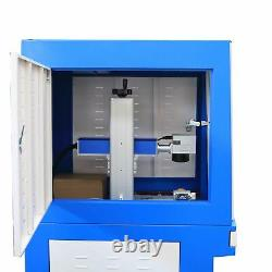 USB 30W Raycus fiber laser metal marking machine enclosed cover deep engraving
