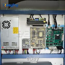 USB 30W Raycus fiber metal marking engraving cutting machine 300300mm rotary
