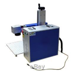 US 30W Fiber Laser Marking Metal Engraving Engraver Machine with Ratory Axis FDA