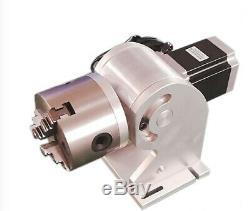 US 30W Fiber Laser Marking Metal Engraving Engraver Raycus Laser+Ratory Axis FDA