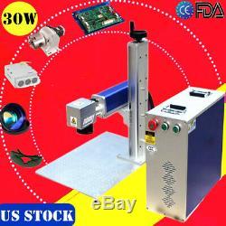 US 30W Split Fiber Laser Marking Machine, Raycus Laser + Rotation Axis FDA