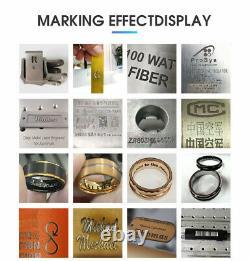US STOCK 50W JPT Fiber Laser Marking Engraving Machine for Metal Cup Mug Bottle