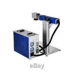 US Stock 30W Split Fiber Laser Marking Machine Engraver with Rotary Axis FDA